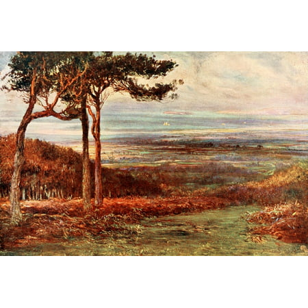 Poets Country 1907 Alfoxden Where Wordsworth Rented A House Poster Print By  Francis S Walker