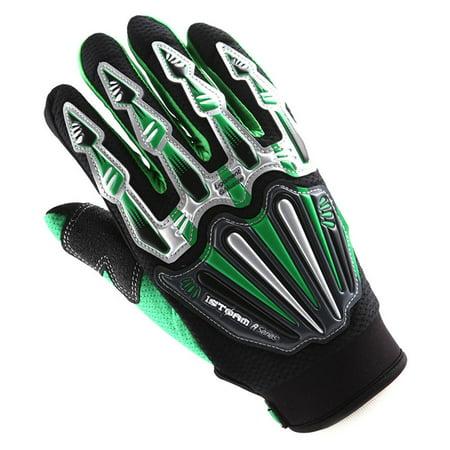 WOW Motocross Skeleton Glove - Motorcycle BMX MX ATV Dirt Bike (Motocross Atv Gloves)