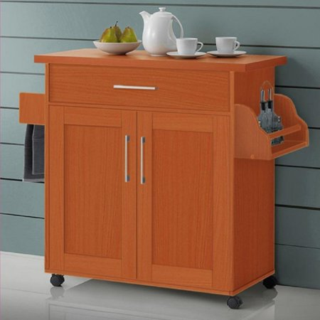 Hodedah Kitchen Cart with Towel Rack for $<!---->