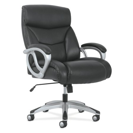 Sadie Big and Tall Leather Executive Chair, High-Back Computer/Office Chair, Black