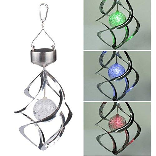 AGPtEK Solar Power LED Color Changing Wind Chime for Outdoor Garden Courtyard by