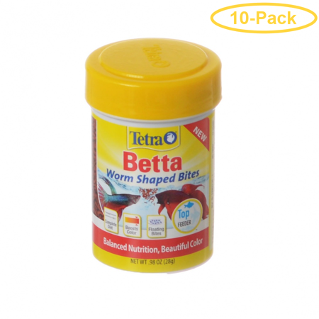 Tetra Betta Worm Shaped Bites 0.98 oz - Pack of 10](Halloween Pumpkin Shaped Cookies)