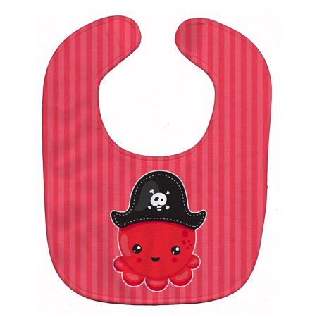 Caroline's Treasures Baby Bib, Pirate Octopus