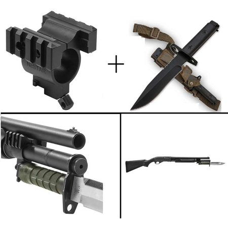Ultimate Arms Gear Remington 870 12Ga Bayonet Barrel Mag 1  Tube Mount Lug For M7   M9 Bayonets   Military M9 M1 Survival Full Tang Blade 1 4  Thick Knife Blade Bayonet