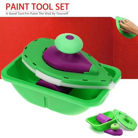 Point Paint Pad Coner Sides Set Roller Tray Painting Kit Home Wall