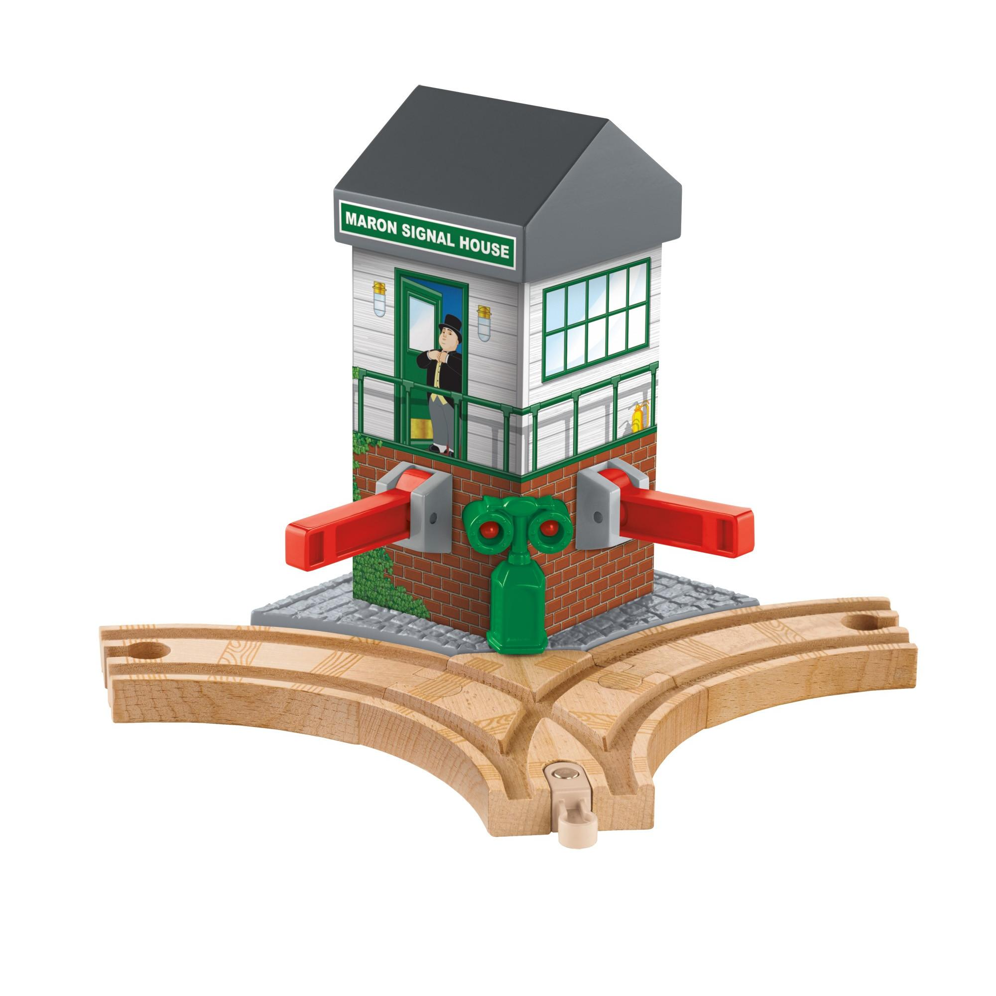 Thomas & Friends Wooden Railway Maron Lights & Sounds Signal Shed by FISHER PRICE