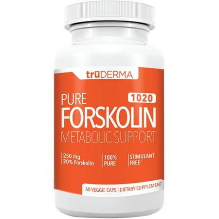 truDERMA Pure Forskolin 1020 Appetite Suppressant Natural Weight Loss Pills, 60 Ct Pure Hoodia Appetite Suppressant
