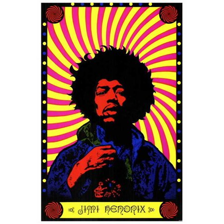 jimi hendrix movie poster style a 27 x 40. Black Bedroom Furniture Sets. Home Design Ideas