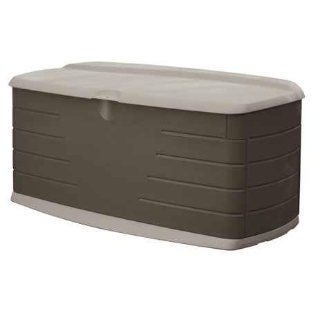 - Rubbermaid Large Deck Box with Seat, 90 Gallon Capacity