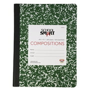 School Smart Quad Ruled Composition Book, 9-3/4 x 7-1/2 Inches, 200 Pages