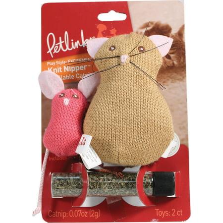 Mouse Catnip Toy (Petlinks® Knit Nipper™ Cat & Mouse Refillable Catnip Cat Toys )