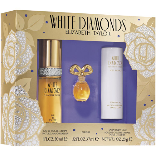WHITE DIAMONDS WOMEN 3 PIECE GIFT SET - 1.0 OZ EAU DE TOILETTE SPRAY by ELIZABETH TAYLOR