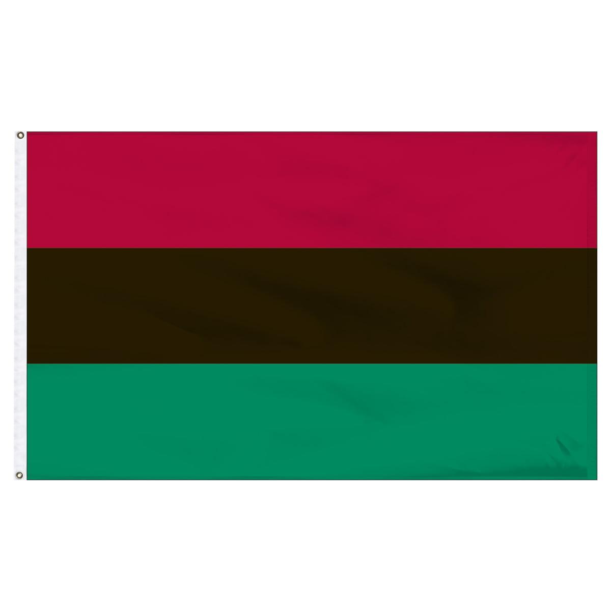 African American Flag 3x5 feet Nylon