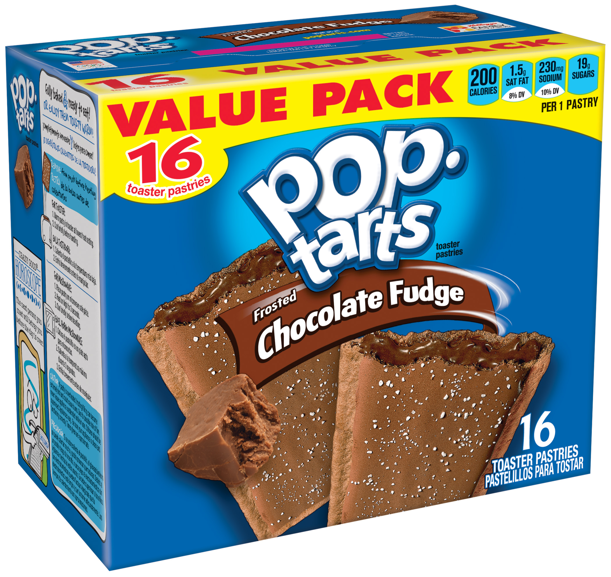 Kellogg's Pop-Tarts Frosted Chocolate Fudge Toaster Pastries Value Pack 16 ct 29.3 oz