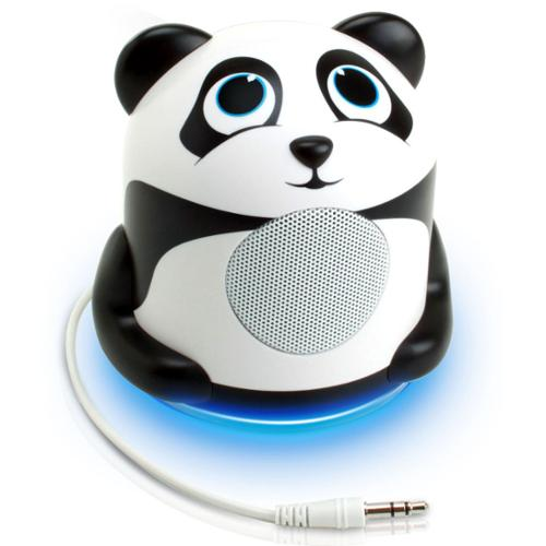 GOgroove Portable Panda Speaker Night Light with Enhanced Bass Woofer , USB Cable & 3.5mm AUX Cable - Perfect for Nap time , Bedtime & More