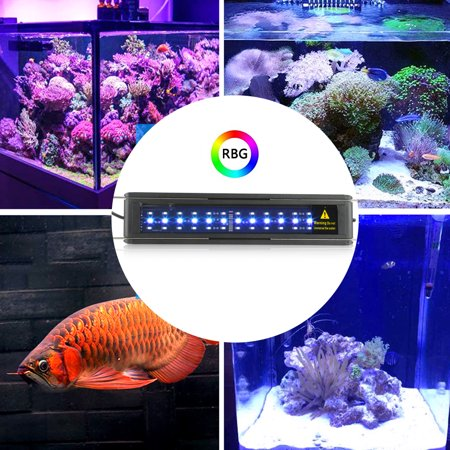Remote Control Fish (Anauto Aquarium Lamp,Aquarium Light, 7 Colors LED Aquarium Light Clip Lamp with Remote Control US Plug)