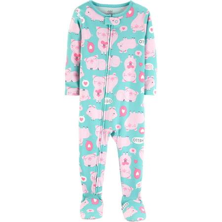 fe81b549f313 Microfleece Cotton Footed Blanket Sleeper (Baby Girls   Toddler ...
