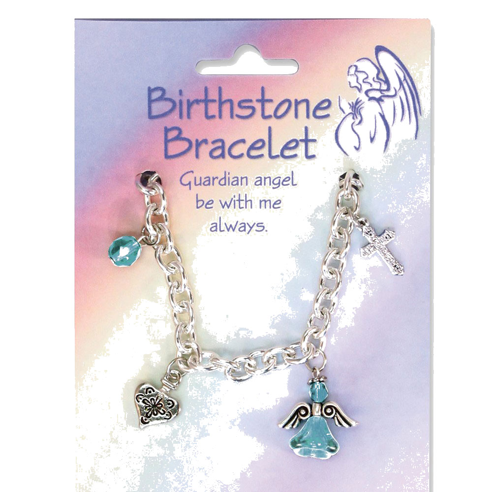 March Crystal Silver-tone Bracelet - Perfect Religious Gift