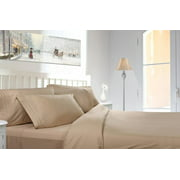Clara Clark 1800 Series Deep Pocket 4pc Bed Sheet Set King Size, Cream