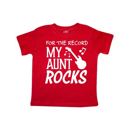 For the Record, My Aunt Rocks Toddler - Toddler Rock Shirts