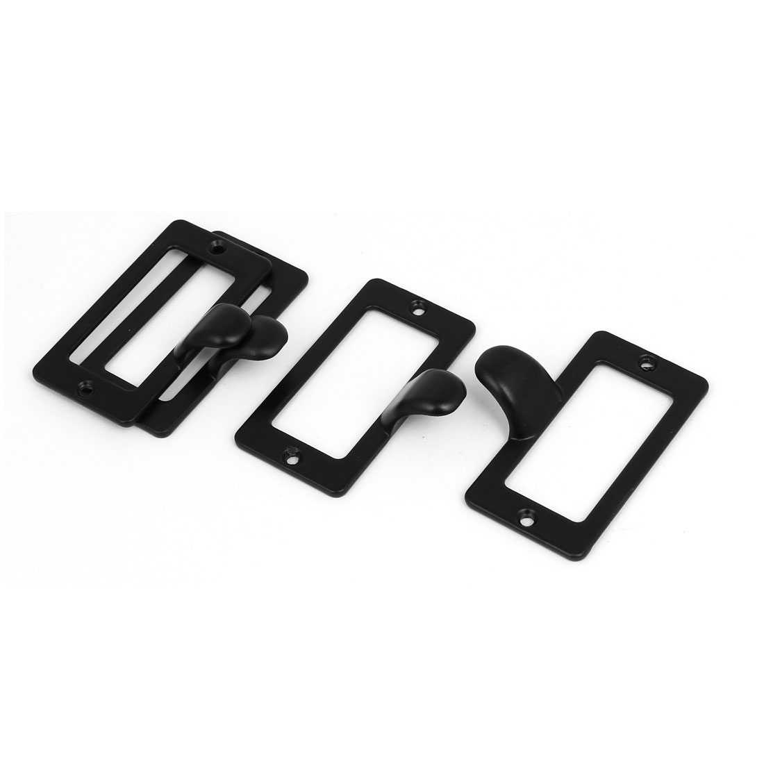 Office Cabinet Drawer Tag Frame Label Holder Pull Handles Black 59mm x 31mm 4PCS - image 4 of 4