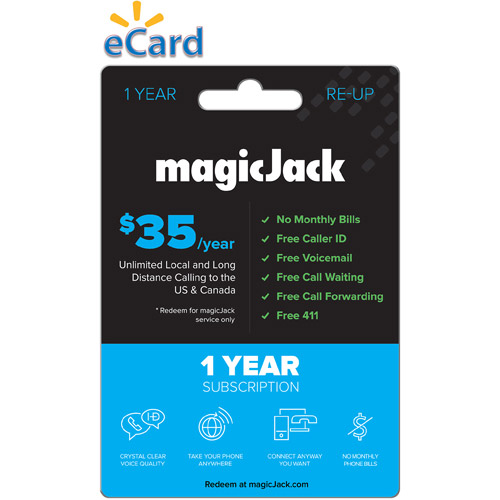 magicJack $35/12-Month (Email Delivery)