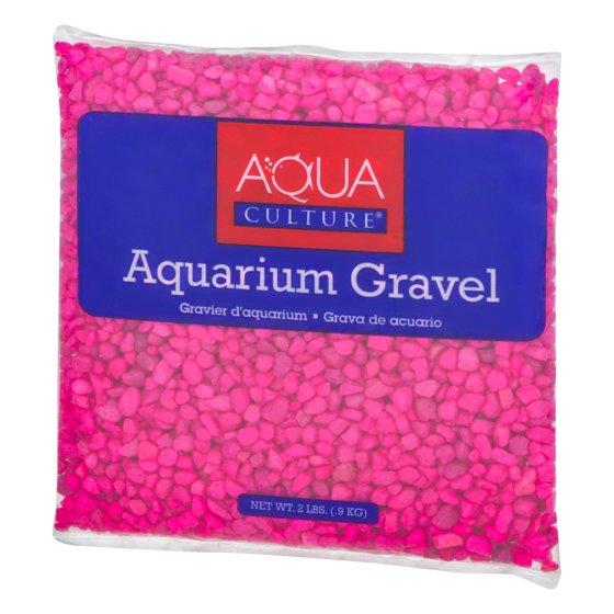 Aqua Culture Aquarium Gravel Pink, 2.0 LB - Walmart.com