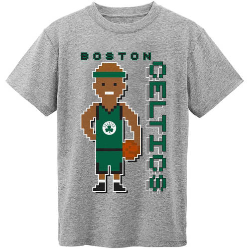 NBA Boston Celtics Grey Youth Team Short Sleeve Tee