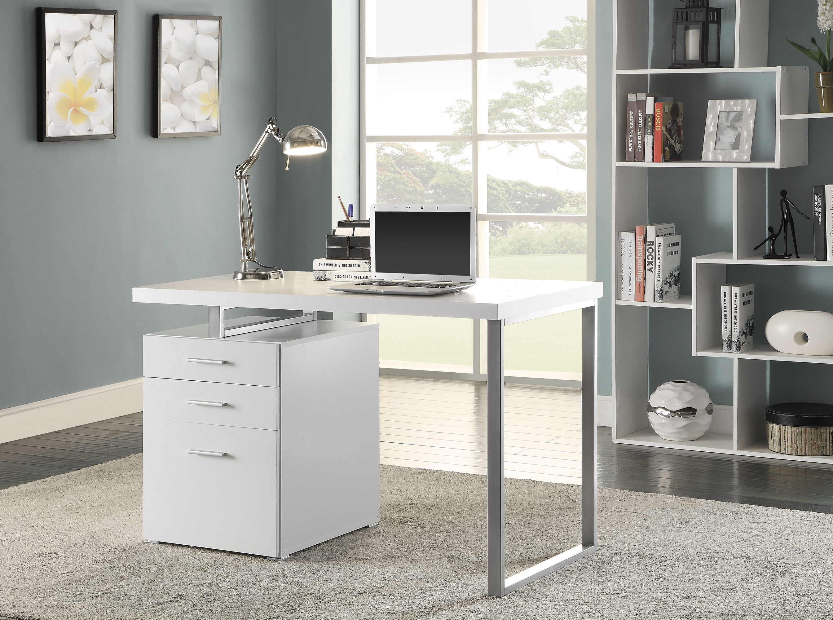 1PerfectChoice Contemporary Home Office Computer Writing Desk File ...