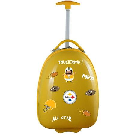 Mojo Licensing Kids Customizable Luggage Pod, Pittsburgh Steelers