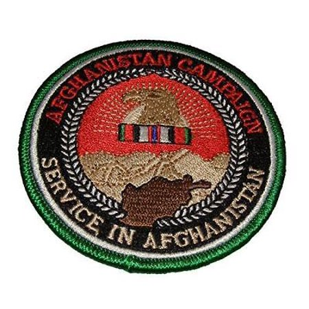 AFGHANISTAN CAMPAIGN SERVICE PATCH W/ OPERATION ENDURING FREEDOM OEF RIBBON
