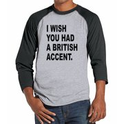 7 ate 9 Apparel Mens British Accent Raglan Tee - Small