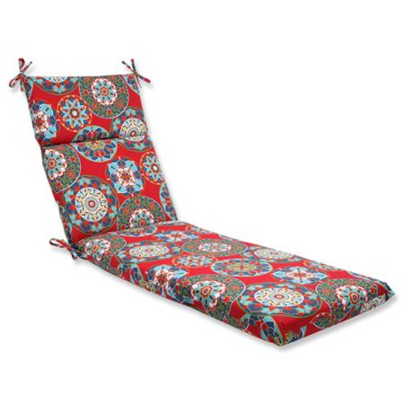 Pillow perfect outdoor cera garden chaise lounge cushion for 23 w outdoor cushion for chaise