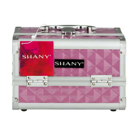- Shany Pink Mania Makeup Train Case With Mirror, 1.0 CT