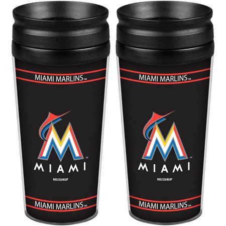 MLB Miami Marlins 2-Pack Full Wrap Tumbler by