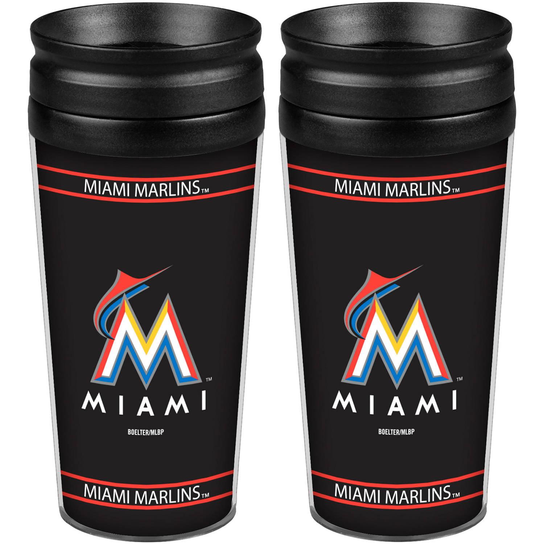 MLB Miami Marlins 2-Pack Full Wrap Tumbler