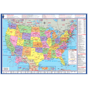 Laminated usa maps learn a map laminated usa world desk map gumiabroncs Image collections