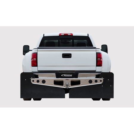 (Rockstar Hitch Ford F250 & F350 3X Diamond Plate Finish Mounted Mud Flaps)