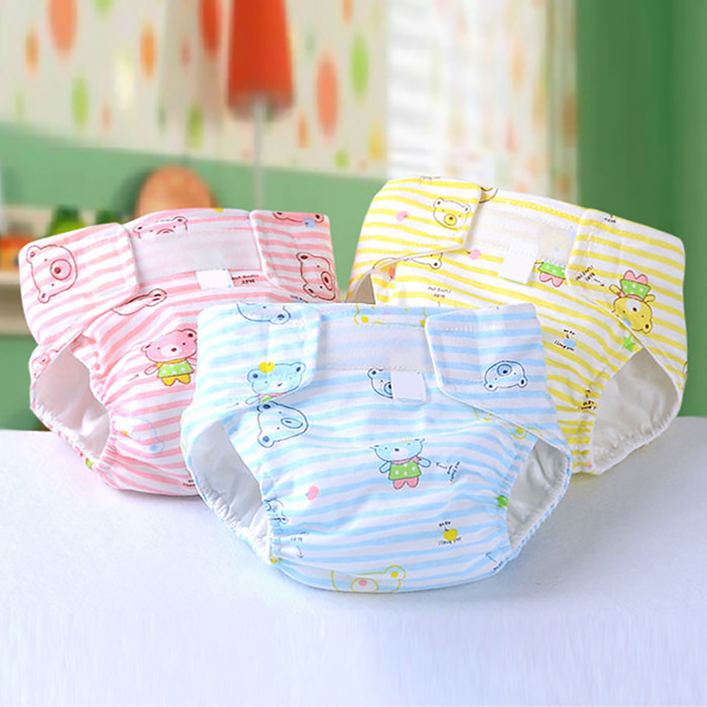 Heepo Newborn Baby Adjustable Washable Reusable Soft Cotton Nappy Cover Cloth Diaper