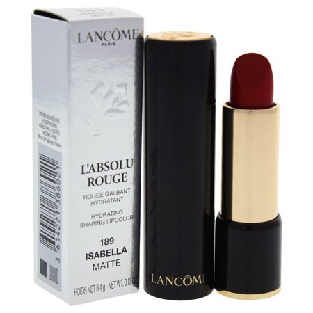 LAbsolu Rouge Hydrating Shaping Lipcolor - # 189 Isabella - Matte by Lancome for Women - 0.12 oz Lip