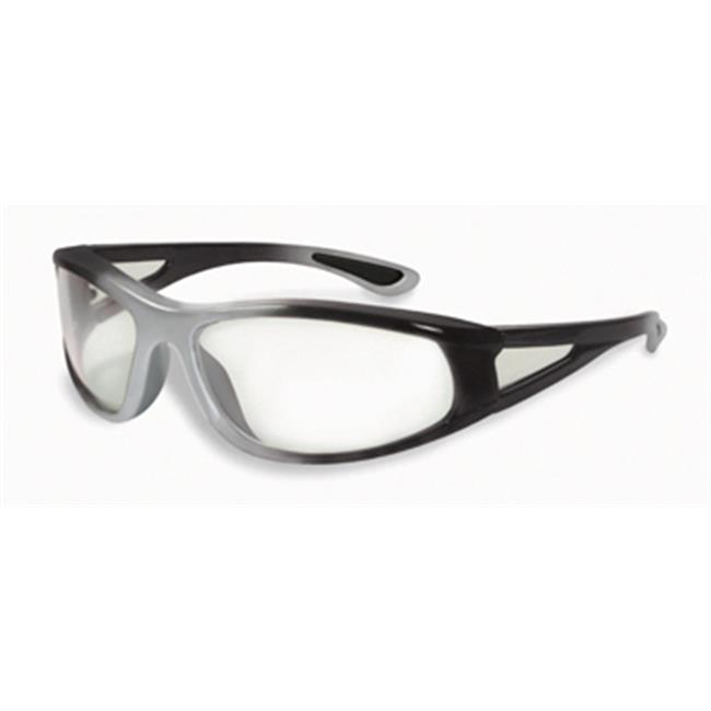 Specialized Safety Products Palouse_CF_CL_Blue_Black Palouse Wrap Around Colored Frames Clear Lens