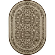 Traditional Design High Quality Floral Area Rug with Panel Border, 082