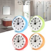 """Waterproof Clock Suction Cup For Kitchen Bathroom Bath Shower Sucker Wall Decoration Dia 7cm/ 2.76"""" AAA Battery Powered (not included)"""