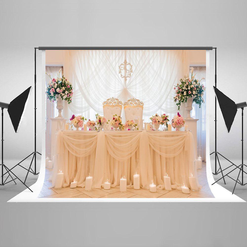 GreenDecor Polyster 7x5ft Photography Backdrop Wedding ...
