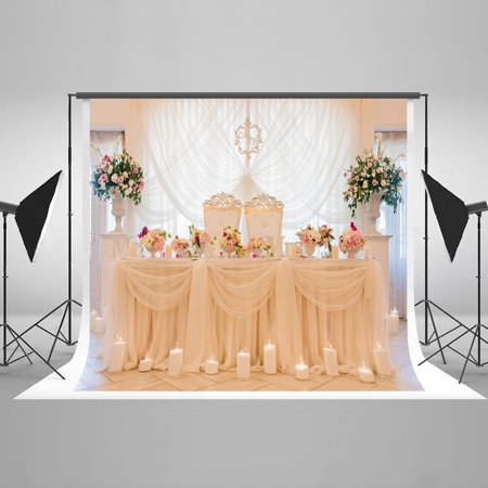 GreenDecor Polyster 7x5ft Photography Backdrop Wedding Scenery Curtain Flower Photo Background Waterproof Photo Backdrops for Wedding Photo Booth Props - Backdrop For Photo Booth