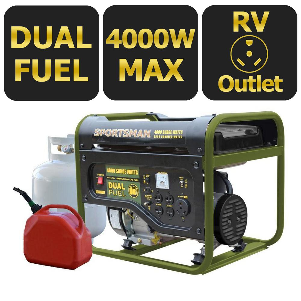 Sportsman 4000W Dual-Fuel Generator, CARB Approved