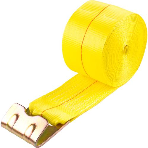 "4""W x 30'L Winch Strap for Flatbed and Step Deck Trailers - Flat Hook End"