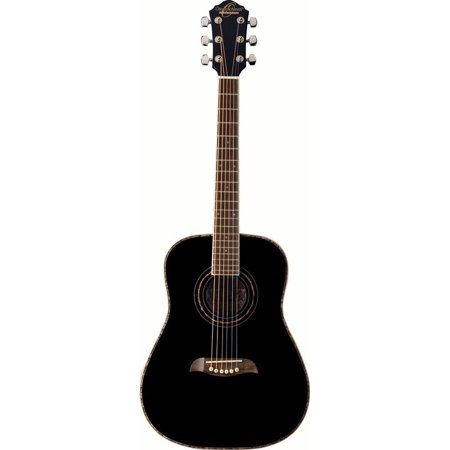 - Oscar Schmidt OGHS 1/2 Size Dreadnought Acoustic Guitar (High Gloss Black)