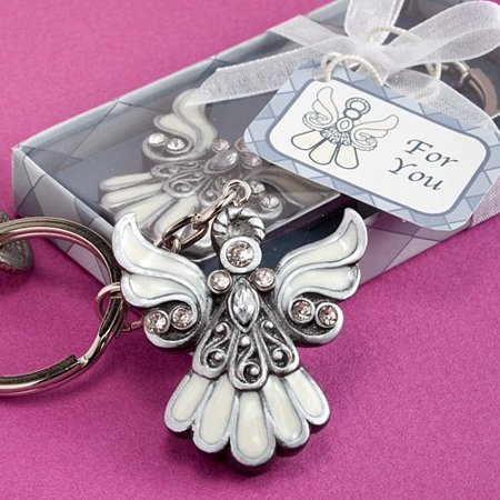 """Useful Communion Favors: Angel Design Keychain Favors, 25, Each angel keychain measures 3.25"""" long, including chain By Fashioncraft"""