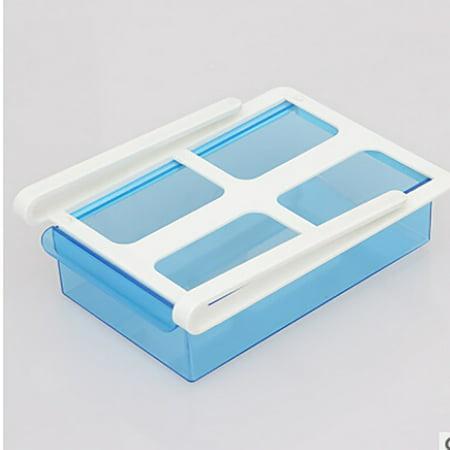Slide Fridge Freezer Organizer Refrigerator Storage Rack Shelf Drawer